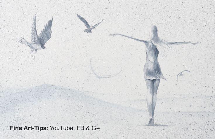 How to Paint a Surreal Idea: A Woman With Falcons, in Watercolor  #art #painting #FineArtTips #watercolor #lady #falcons #tutorial #Tutto3 #artistleonardo #LeonardoPereznieto  Take a look to my book here: http://www.artistleonardo.com/#!ebooks-english/cswd