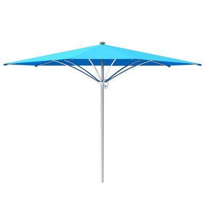Tropitone Trace 10' Market Umbrella Fabric: Sparkling Water, Frame Finish: Parchment
