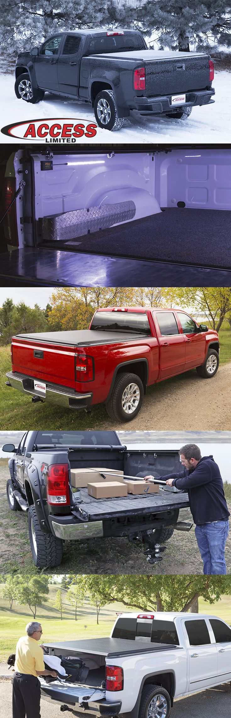 The access limited roll up cover is for the truck owner who wants the