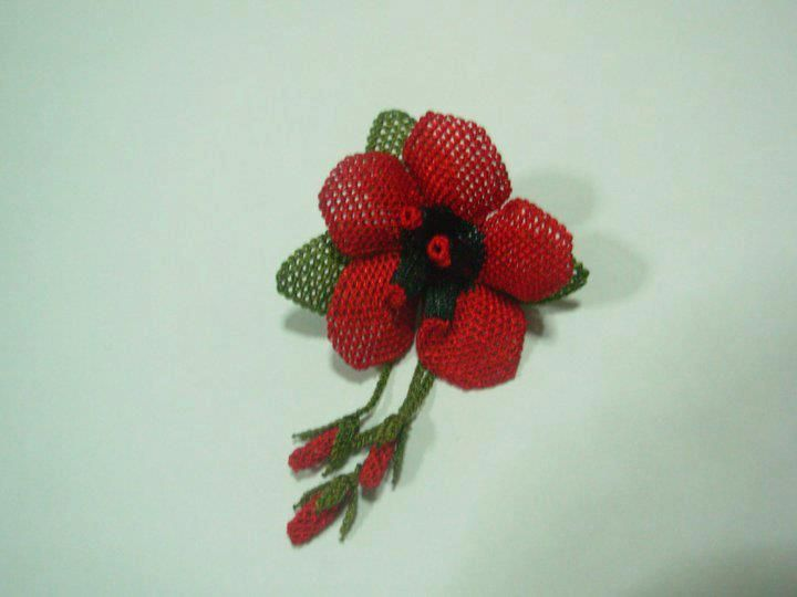 İğne Oyası Çiçek Örnekleri