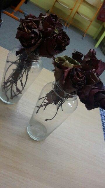 Růže z listů. Podzimní kreativita.