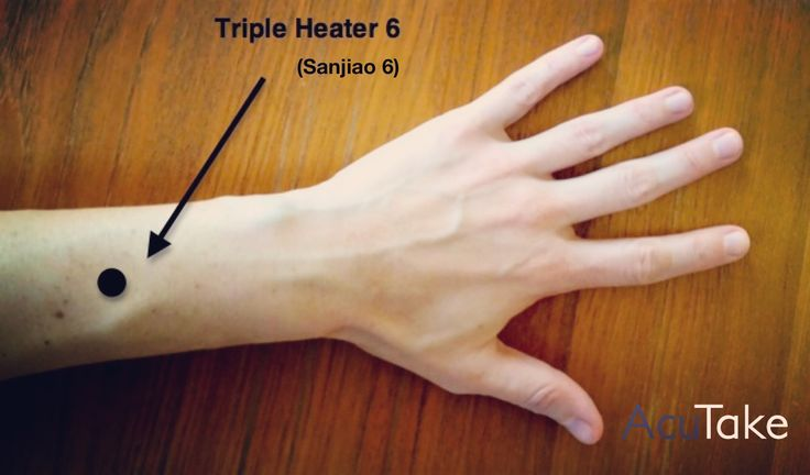 Press this acupressure point for bloating and constipation.