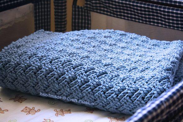 Free Crochet Basket Weave Baby Blanket Pattern  Tutorial