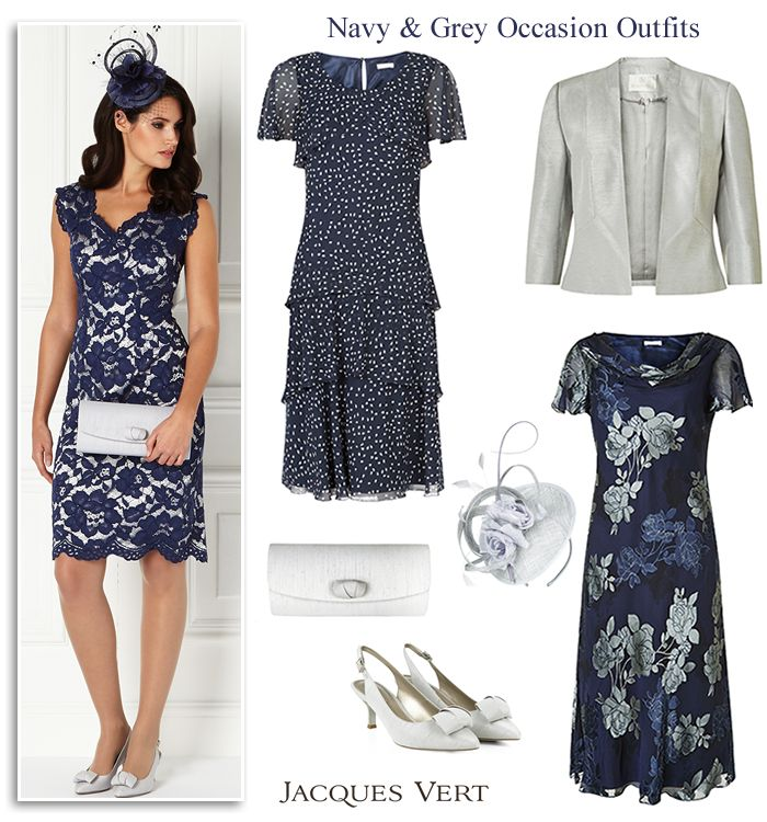 Midnight Blue Lace Cocktail Dress Bias Cut Layered Fit And Flare Dresses Edge To Jacket