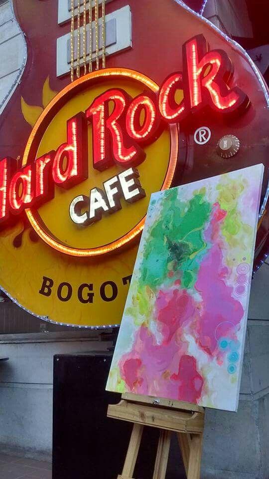 Exposición en Hard rock Café Bogotá.