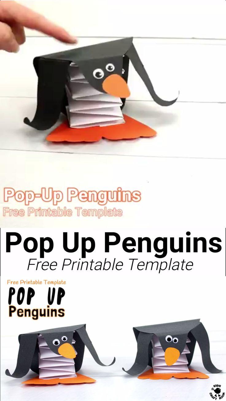 Pop Up Penguin Craft
