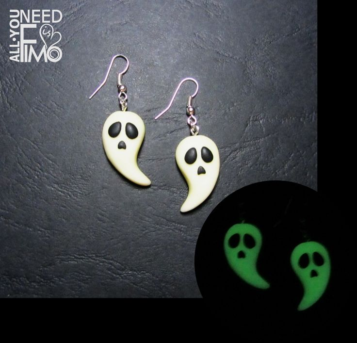 Need something for Halloween? Have a look at these fimo earrings with little…