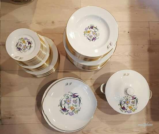 Vajilla completa de porcelana de Limoges.  #porcelanaantigua #porcelanalimoges #brocante #masphere #porcelanafrancesa