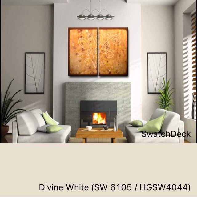 Divine White SW 6105 HGSW4044 SherwinWilliams  SwatchDeck  Transitional Craftsman  Paint