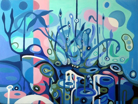 Patricia Mado  Under The Surface - 2012  Oil on Canvas  100 x 75 cm