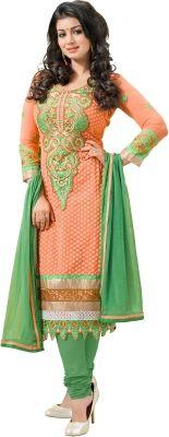 Khushali Georgette Self Design Salwar Suit Dupatta Material Price in India - Buy Khushali Georgette Self Design Salwar Suit Dupatta Material online at Flipkart.com