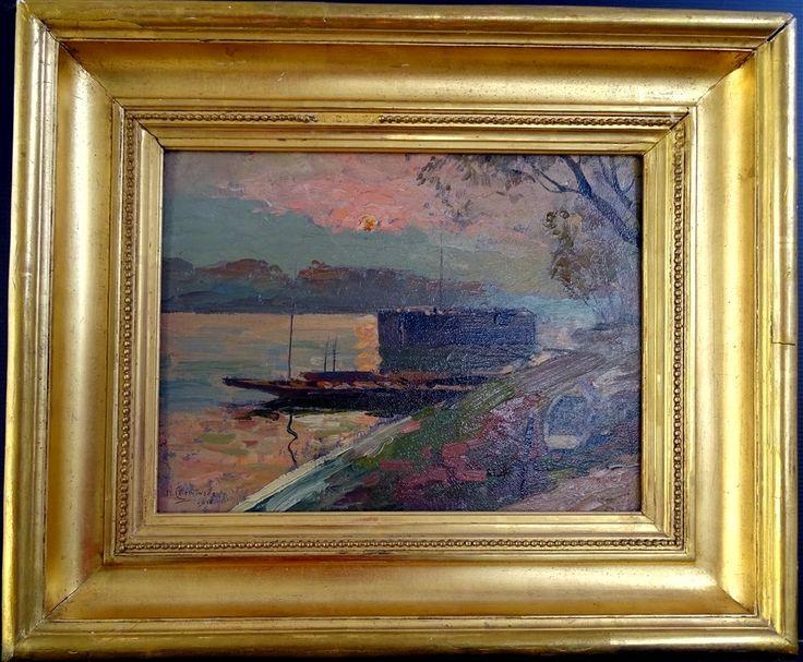 Cheminade Narcisse Barques Sur Le Loiret 1919, ARTE TRES GALLERY, Proantic