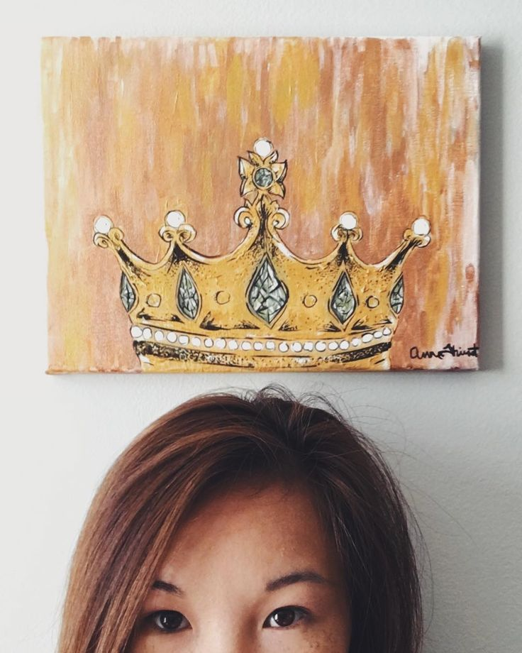 crowned  jewels of his crown  painting  acrylic  canvas