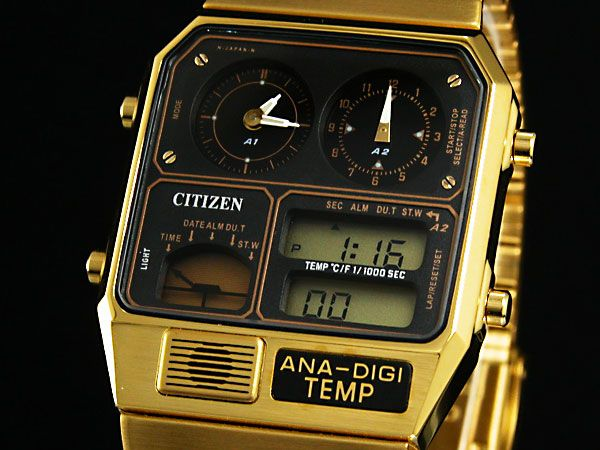 """シチズン CITIZEN 腕時計 アナデジテンプ JG2002-53E""""売り切れ"""" - メンズ、レディース腕時計通販なら腕時計ワールド"""