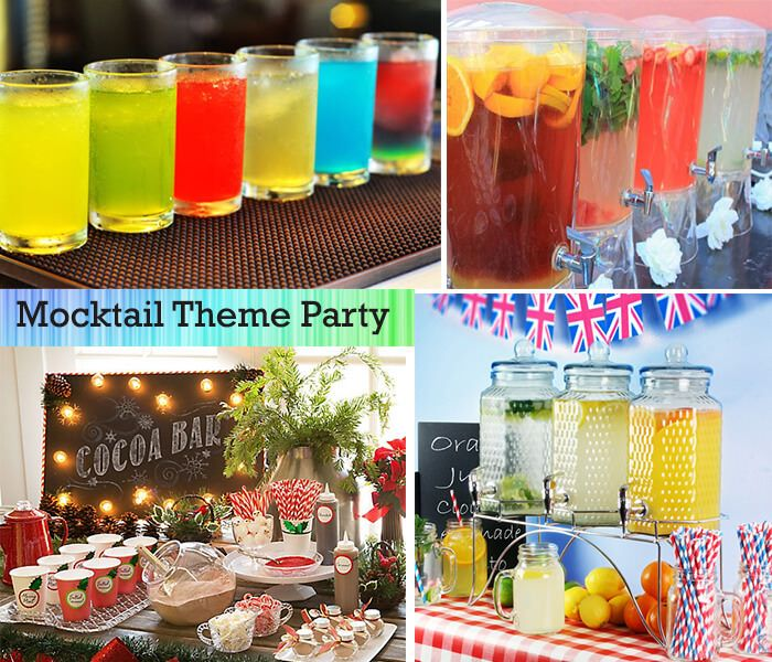 Mocktail Birthday Party Theme - Know Arrangement, decoration, drinks and food style...