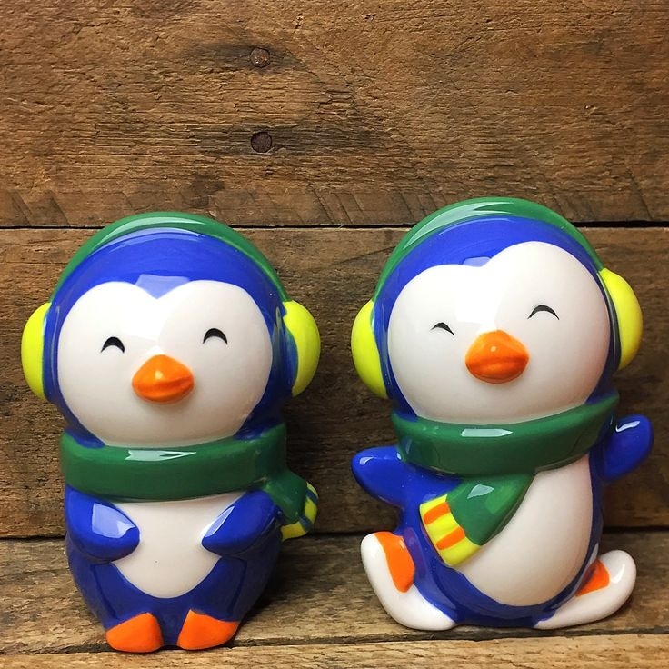 Target Penguins in Winter Gear Salt and Pepper Shakers
