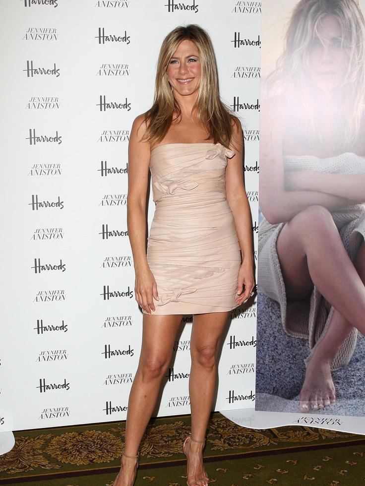 Jennifer Aniston - nude mini dress