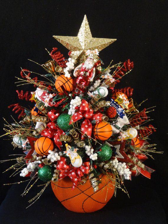 Basketball lighted christmas tree basketball decoration for Fun decorations for christmas