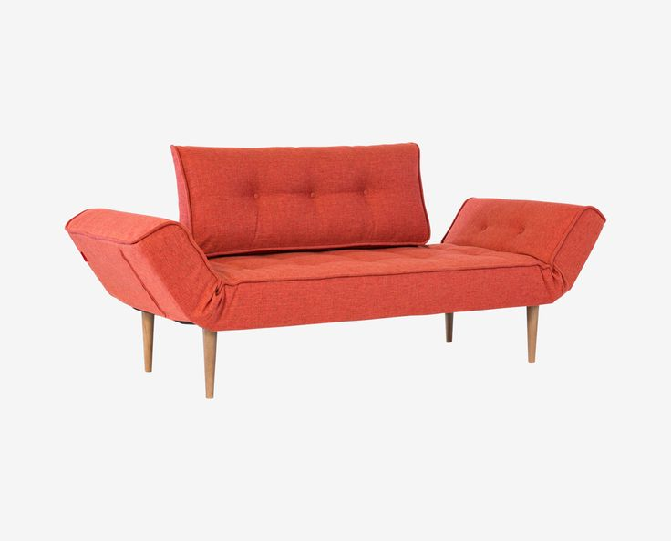 Scandinavian Designs - You and your guests will appreciate the style and versatility of the Ziana convertible sofa. The Ziana is easily transformed from a sofa to a lounge to a bed with a seven-inch pocket mattress. Durability is ensured with a steel frame and tapered walnut legs. Tufted wool upholstery.