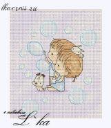 Нежные иллюстрации - Мыльные пузыри