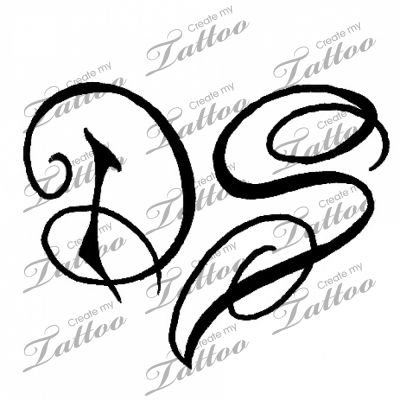 initials make a heart custom tattoo d s form a heart 7432 tattoos. Black Bedroom Furniture Sets. Home Design Ideas