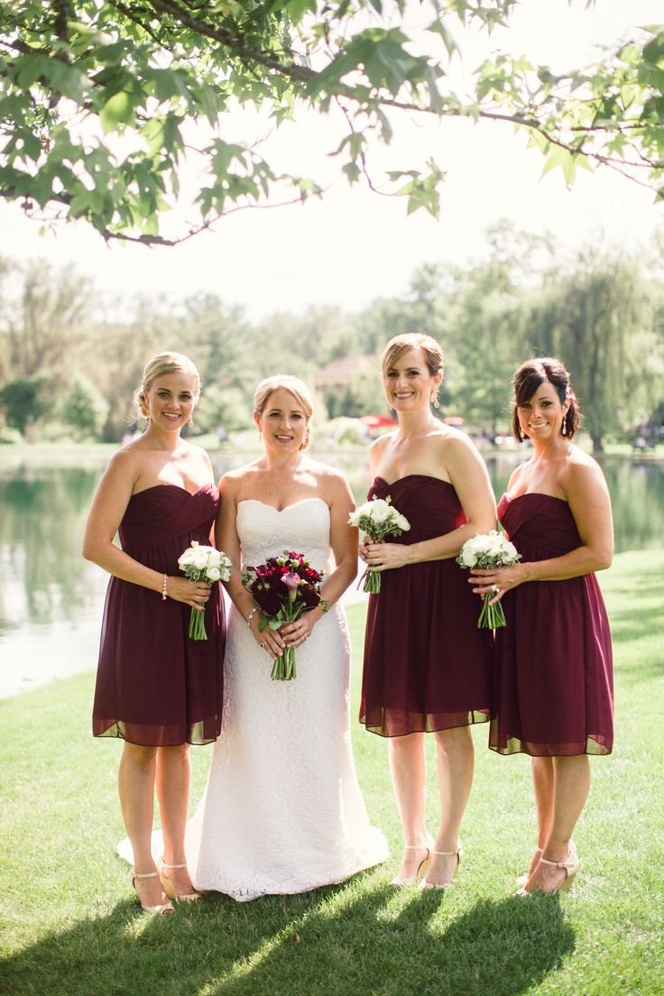 Best 25 wine bridesmaid dresses ideas on pinterest burgundy wine bridesmaid dresses with matching bouquets ombrellifo Images