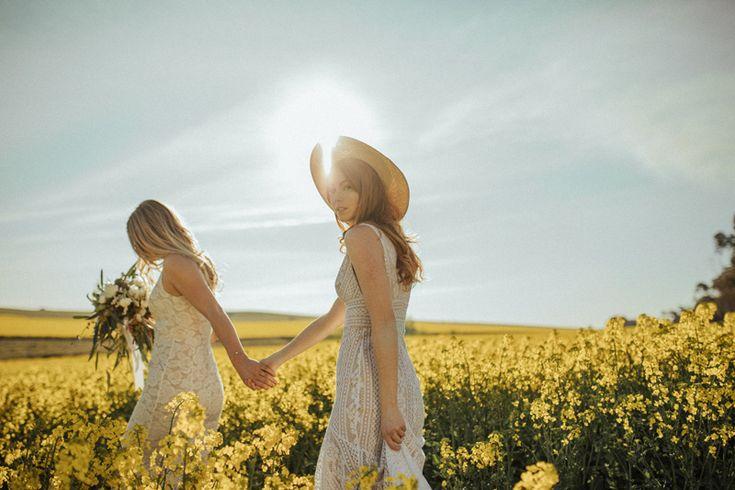 A Wander Through the Wildflowers | HOORAY! Mag | Canola Fields | Flower Fields | Bridal Inspiration | Lover The Label | Devojka Models | Moxom Whitney Florals | Bouquet Inspiration |