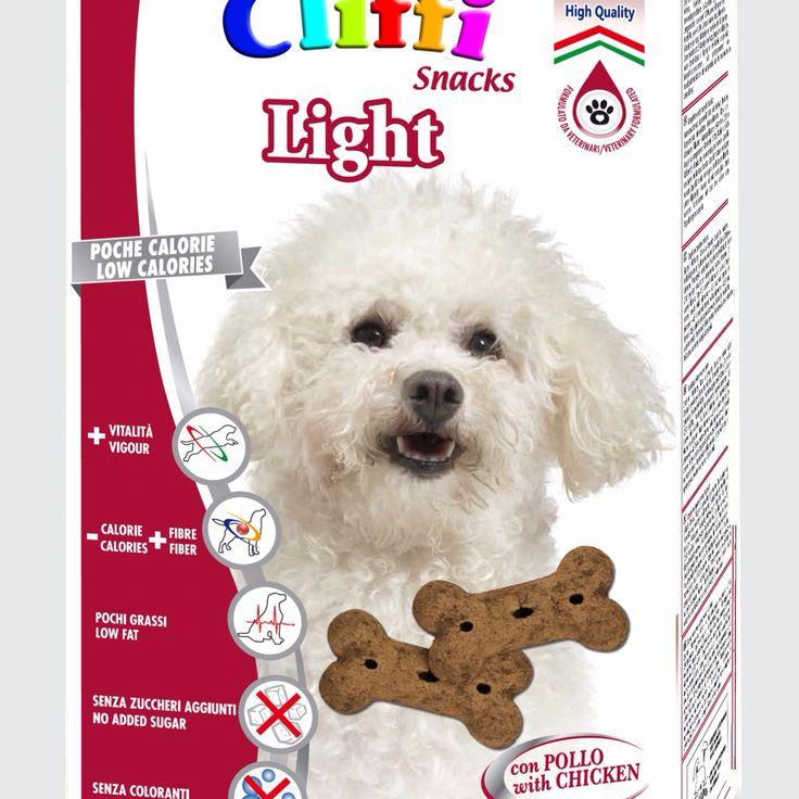 Nuova confezione #Cliffi Light. Biscotti a basso contenuto calorico per cani di taglia piccola. Light biscuits for dogs