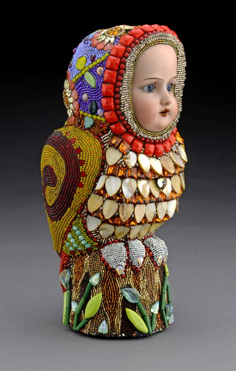Beaded Sculpture, Betsy Youngquist - I think I may have seen some of her work at the Clayton Art Fair in St. Louis a couple of years ago.