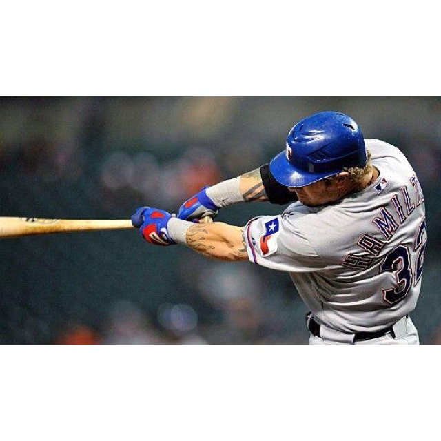 Josh Hamilton Rangers Swing