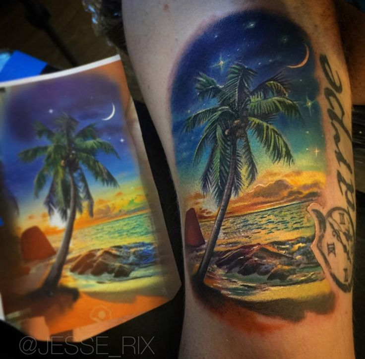 Color Nature Tattoos Sunset