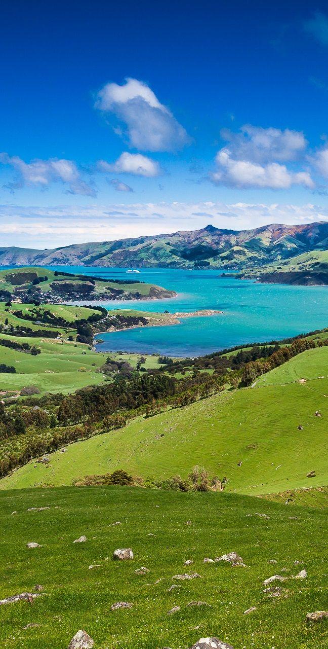 Akaroa, Banks Peninsula - Pueblo de veraneo cerca de Christchurch en Nueva Zelanda