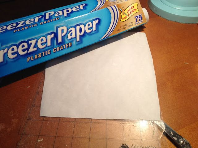 Silhouette School: Freezer Paper Stencil: Silhouette Tutorial for a No Bleed, No Fail Paint Stencil