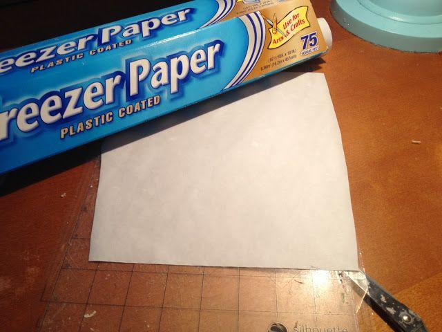 Silhouette School: Freezer Paper Stencil: Silhouette Tutorial for a No Bleed, No Fail Paint Stencil