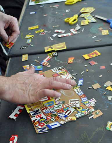 Cereal Box Art Workshop In The Art Studio With Artist