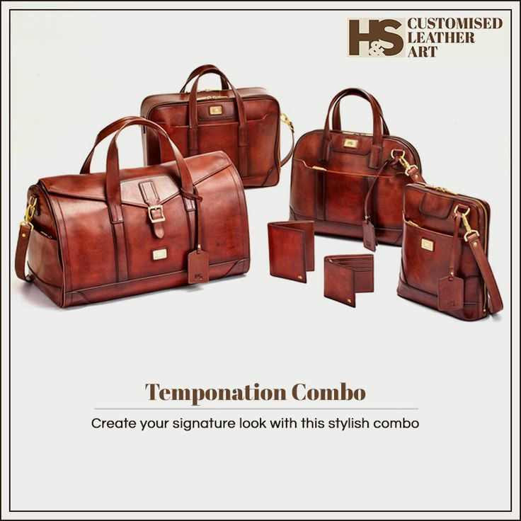 An exquisite combo that can make a style statement. https://hnscraftsmanship.com/collections/temponation-combo-tan.html #hnscraftsmanship #leather #leathercraft #leatherbag #leatheraccessories #leathershop #luxurygoods