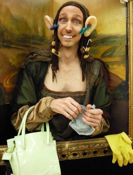 Chris Channing living painting - 'Mona Lisa'