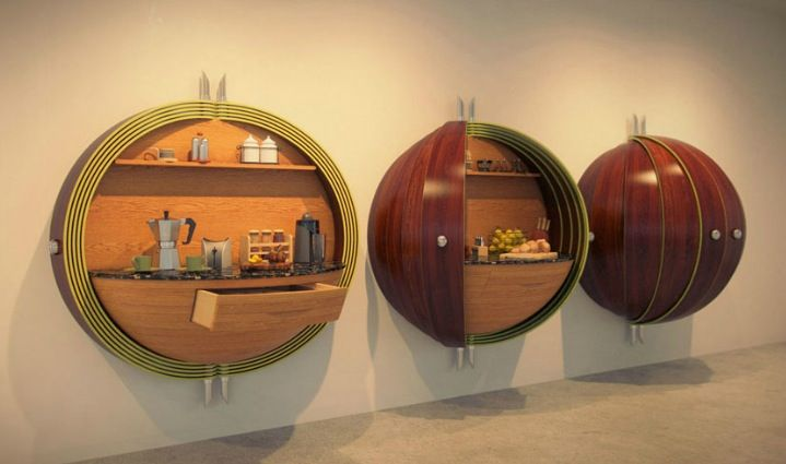 We want these in our kitchen!  Innovative Kitchens Design & Curvaceous Countertops : Spherical Kitchen Cabinets