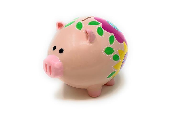 Decorative Piggy Bank Turquoise Fuchsia Piggy Bank Decor