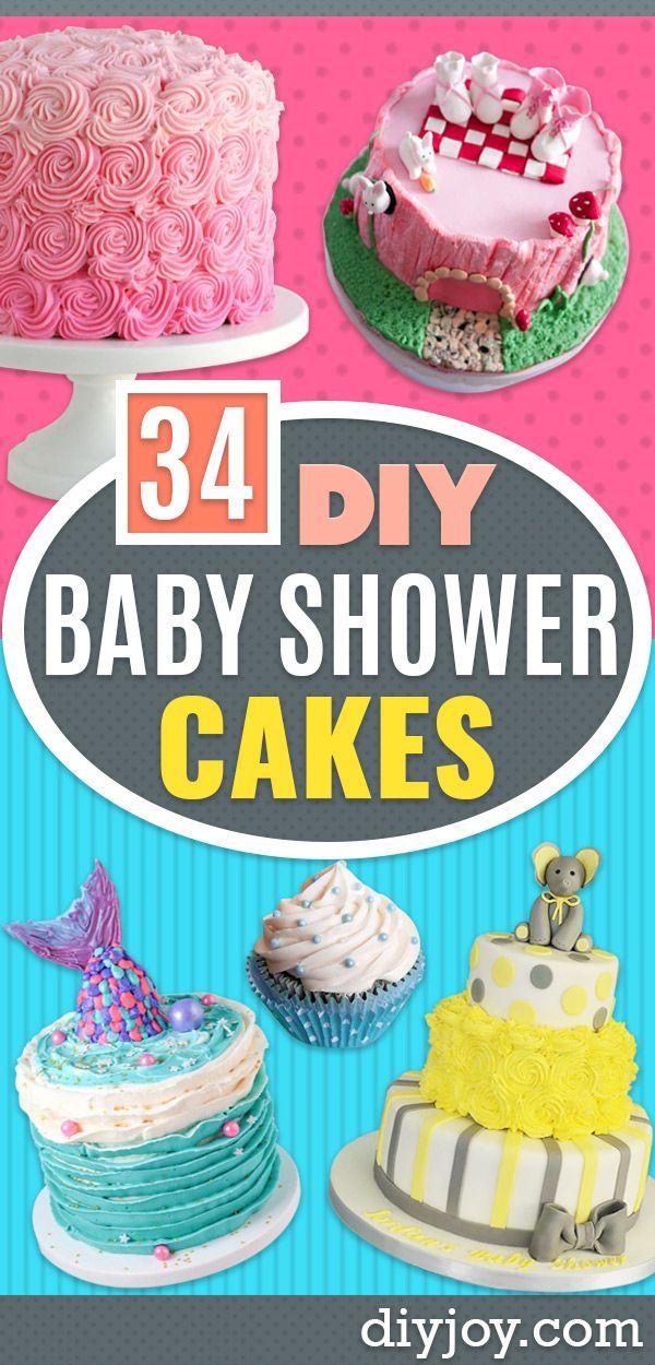 34 Diy Baby Shower Cakes Baby Shower Cakes Baby Shower Cakes