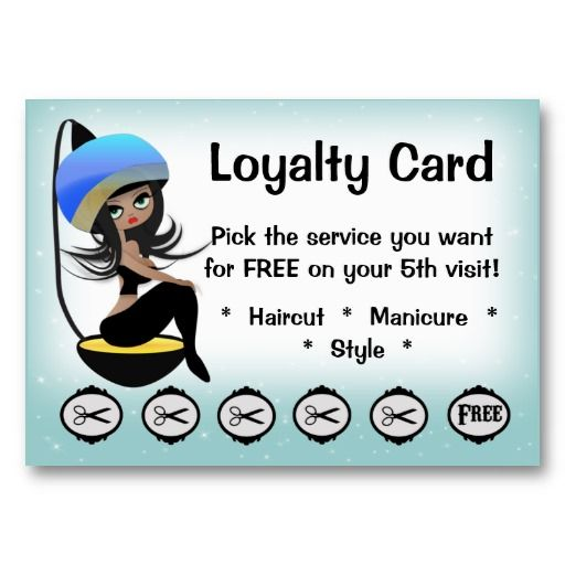 21 best african american business cards images on pinterest beauty salon loyalty hairstylist punch cards colourmoves Images