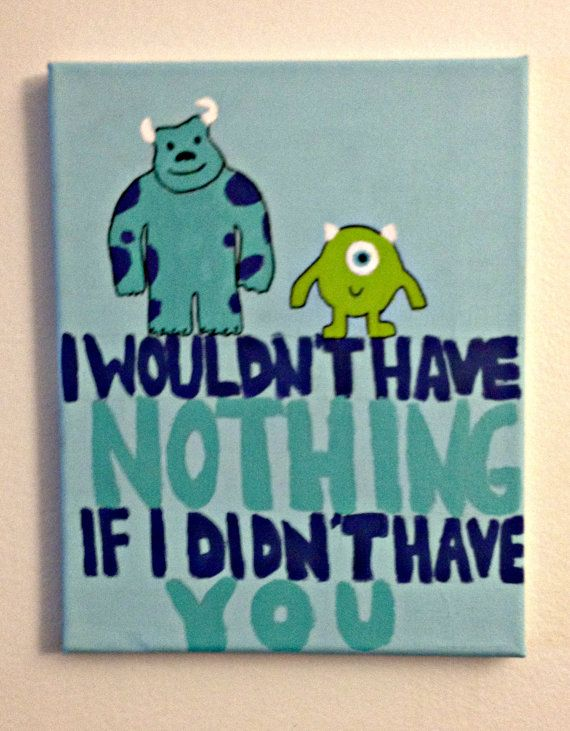 8x10 Monsters Inc Canvas by KEGcrafts on Etsy, $8.00