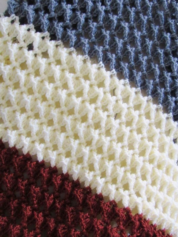 Free Crochet Afghan Pattern With A Beautiful Texture Crocheting