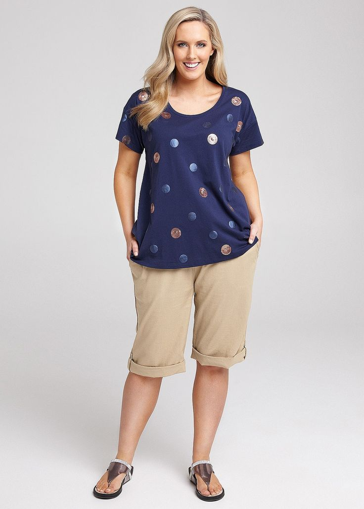 Bubble Dot Tee #takingshape #plussize #curvy #virtuelle