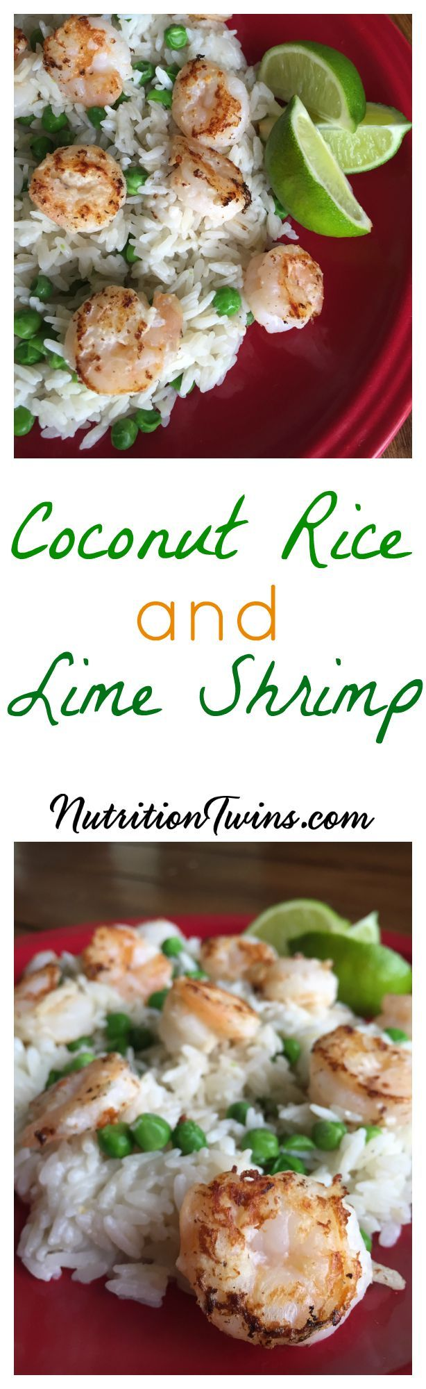 Lime Shrimp with Coconut Rice Only 315 Calories| Sweet & Creamy Rice, Succulent Shrimp | For Nutrition & Fitness Tips & RECIPES please SIGN UP for our FREE NEWSLETTER NutritionTwins.com