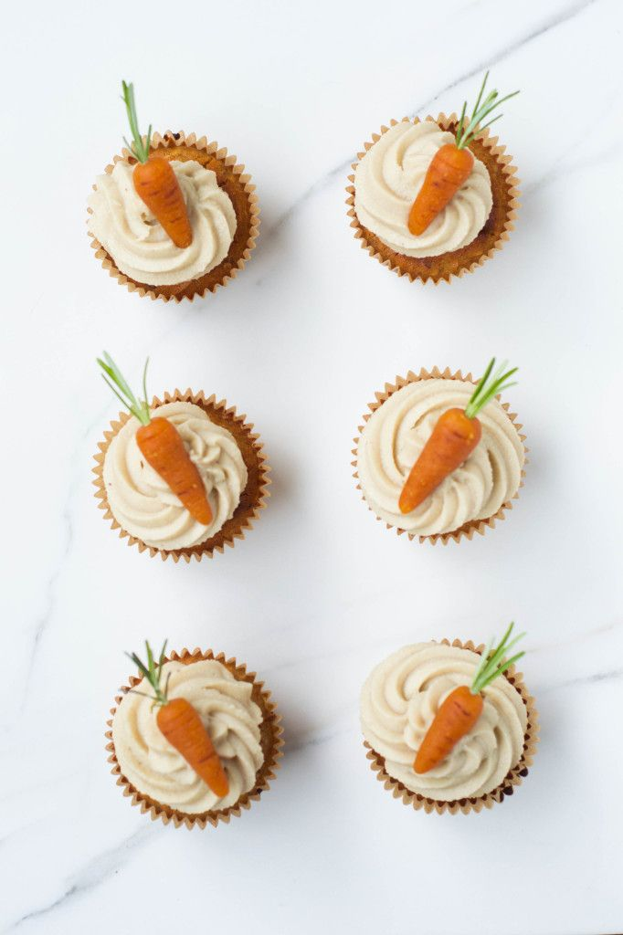 Carrot Cake Cupcakes | Wallflower Girl