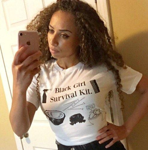 Black Girl Survival Kit . . . . . . . . . #blackvibetribe #blacktees #blackgirlsurvivalkit #blackisbeautiful #myblackisbeautiful #blackgirlsrock #blackgirlmagic #naturalhair #naturalhair #kinkycurly #curlyhair #bighair #beauty #love #healthy_hair_journey #teamnatural #dope #lit #naturalgirlsrock