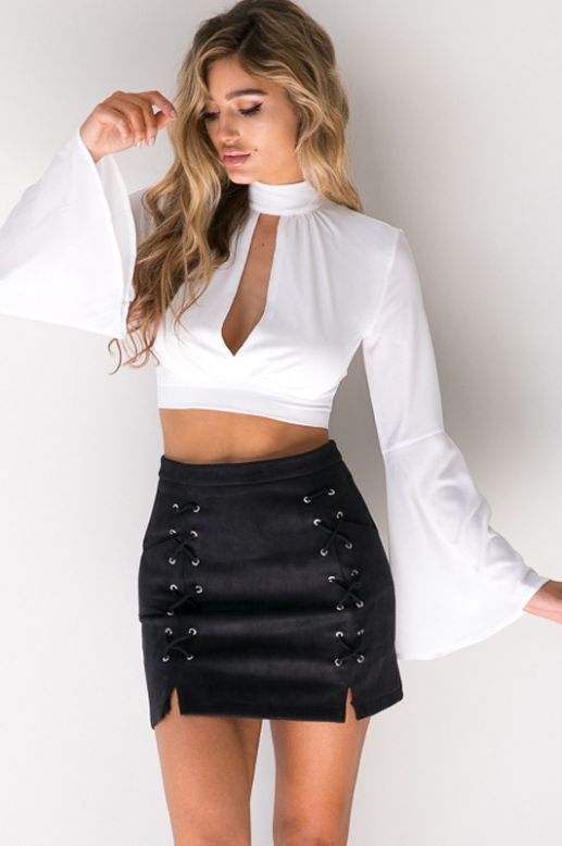 Double Slit Mini Skirt | Jill Dress