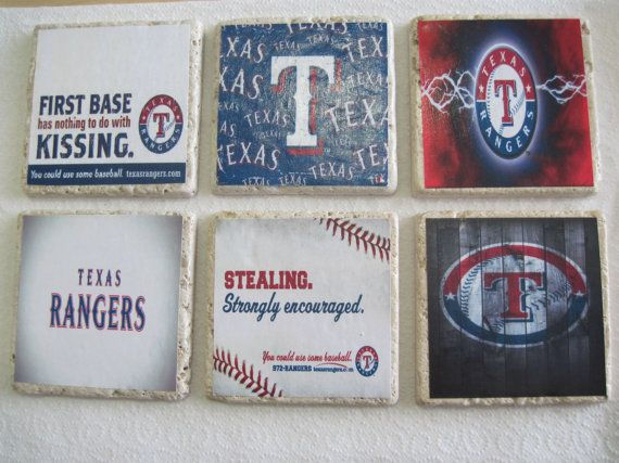 Texas Rangers Coasters - Mix and Match your favorite 4! on Etsy, $12.00