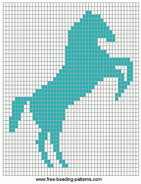 loom-beadwork-design-horse-rampant